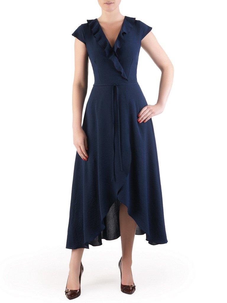 f13ba11f5 Modna, kopertowa sukienka z efektownym żabotem 17616. | Sklep online ...