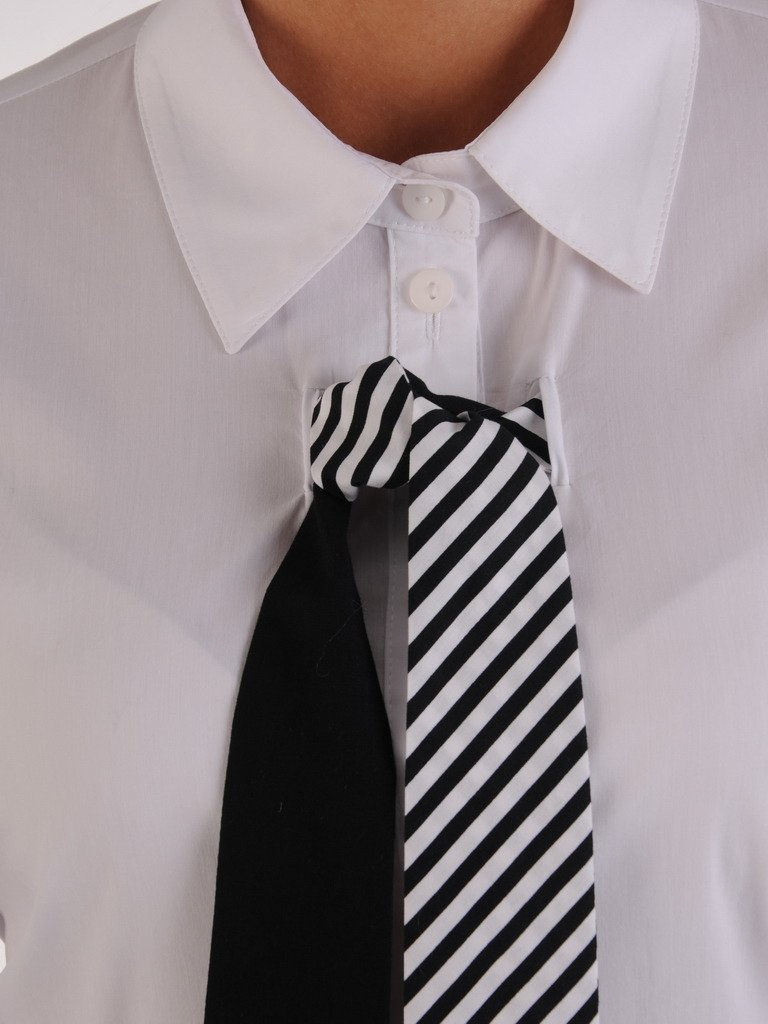 Modna koszula z ozdobnym krawatem Telimena II. | Sklep  nqTeQ