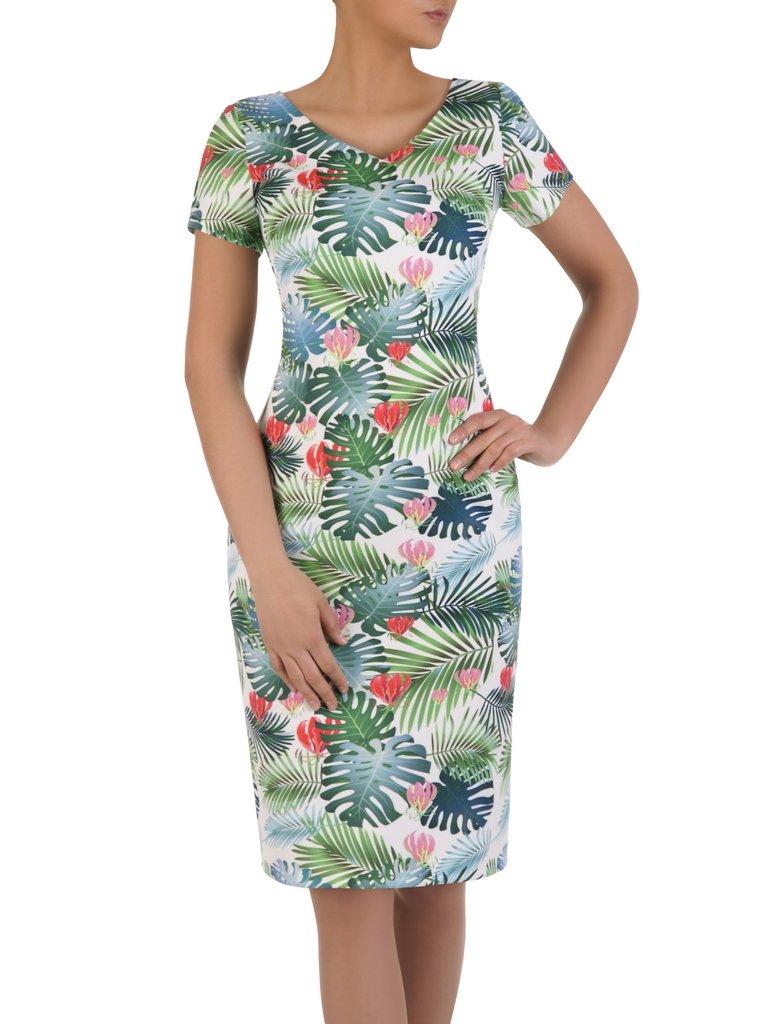 85c19151e8 Modna sukienka w kwiaty 16053
