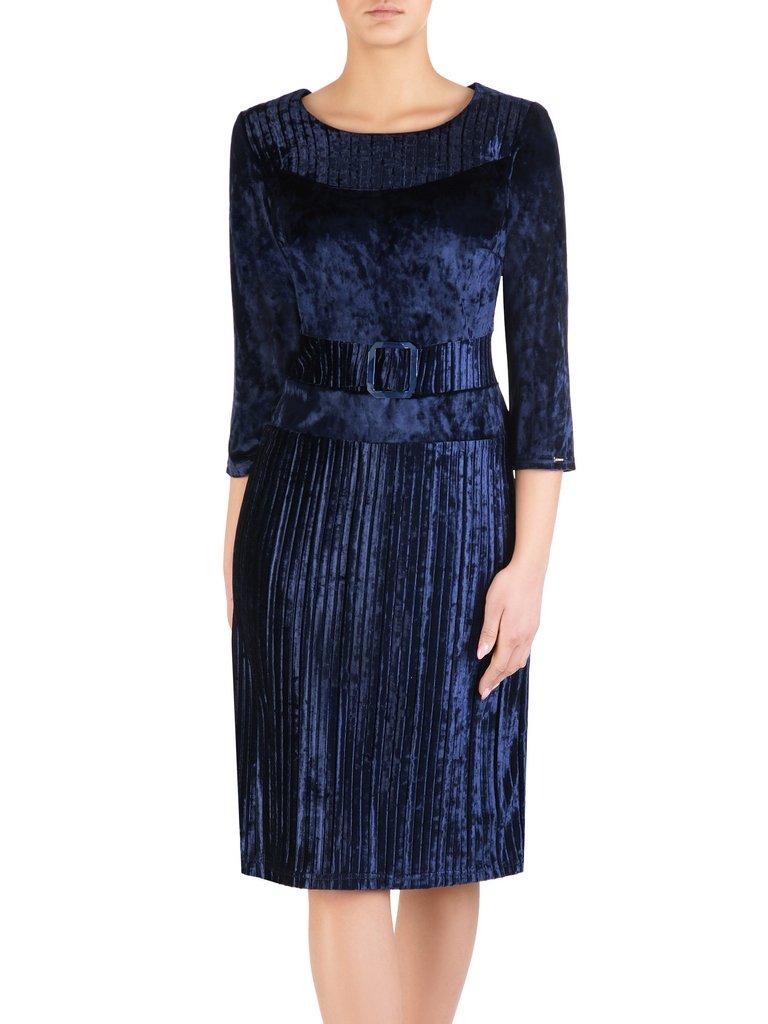 f1a337a761 Modna sukienka z ozdobnego aksamitu 14460