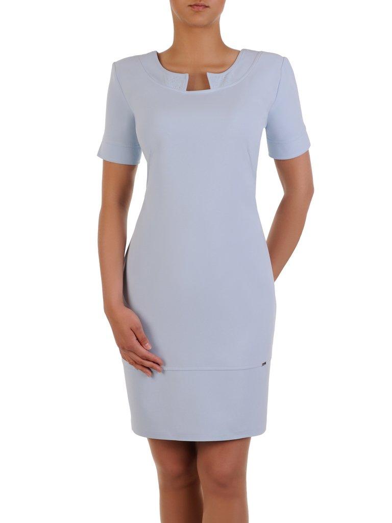 42cb5e6fc6 Modna sukienka z ozdobnym dekoltem Zoja I