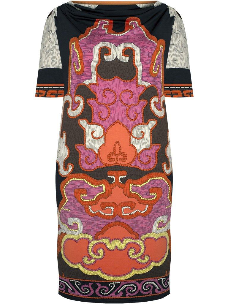 bbb6a16ea7 ... Nowoczesna sukienka w oryginalne wzory Anisja. Kliknij