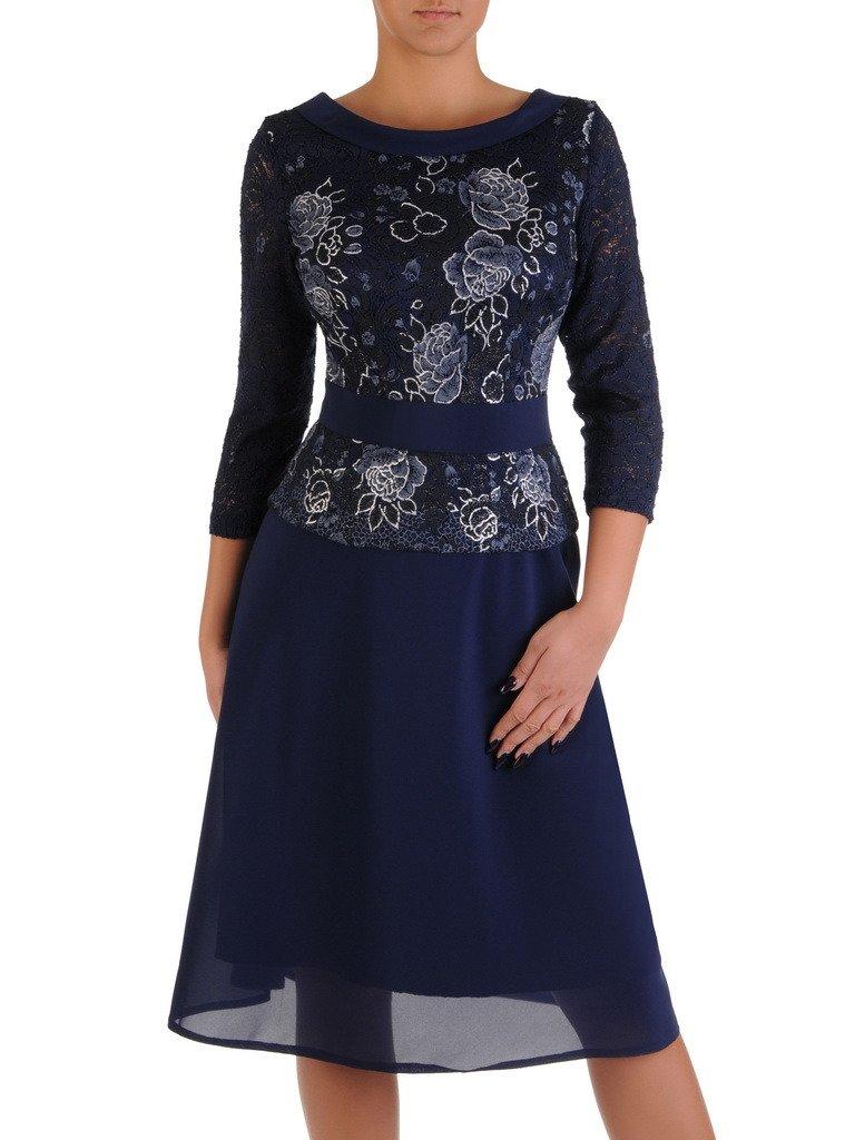 f66d4722af Nowoczesna sukienka z baskinką 18241