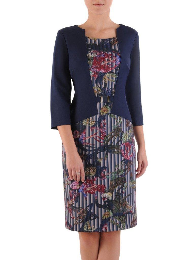 b530f47775 Nowoczesna sukienka z imitacją żakietu 17599