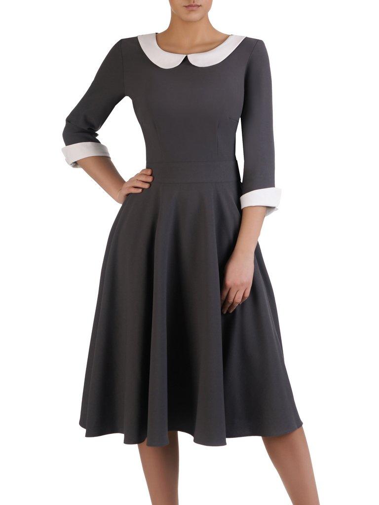 96e6591fca Nowoczesna sukienka z kontrastowym