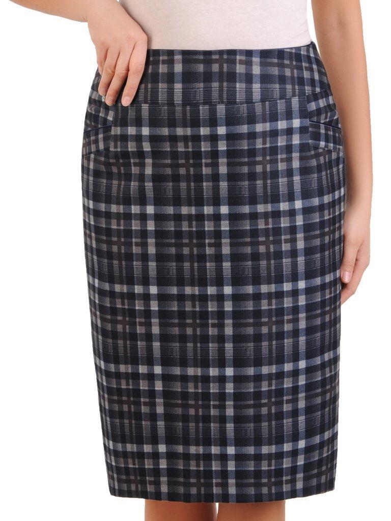 Ołówkowa spódnica w modną kratę 24094