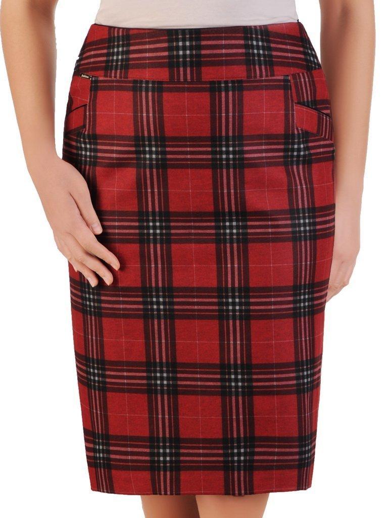 Ołówkowa spódnica w modną kratę 24325