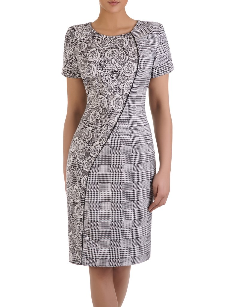 1f9a7fe932ab25 Oryginalna sukienka wyszczuplająca Ariana, kreacja z wzorzystej ...