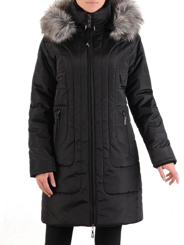 Pikowany płaszcz zimowy z odpinanym kapturem 23277