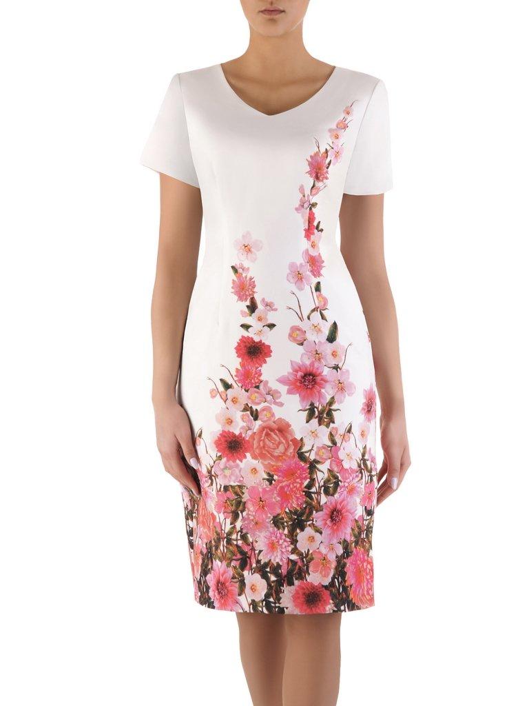 14905a4733 Prosta sukienka w kwiaty 14566