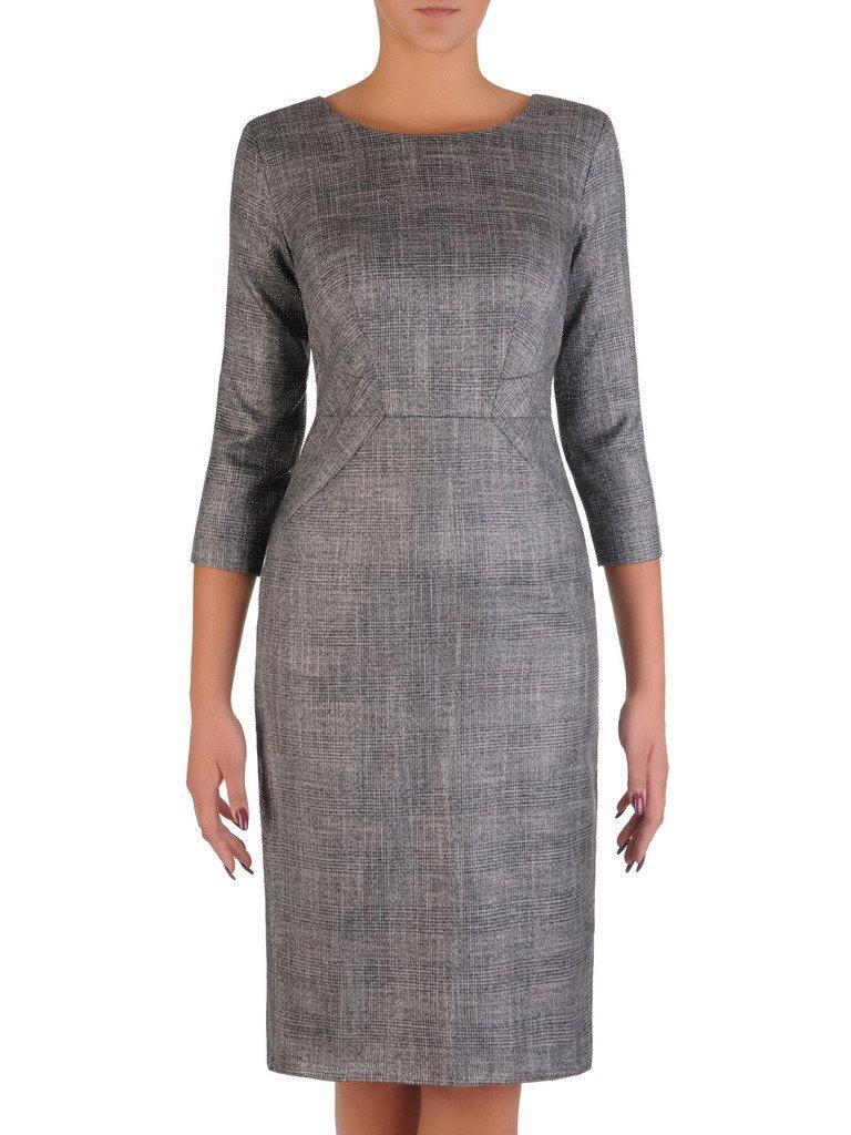 d1678553ca Prosta sukienka z eleganckiej tkaniny 17821. Kliknij