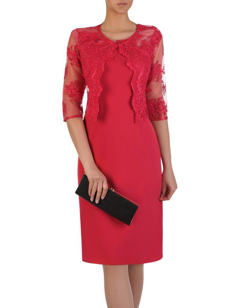 1c485cdb78 Prosta sukienka z koronkowym żakietem 16328