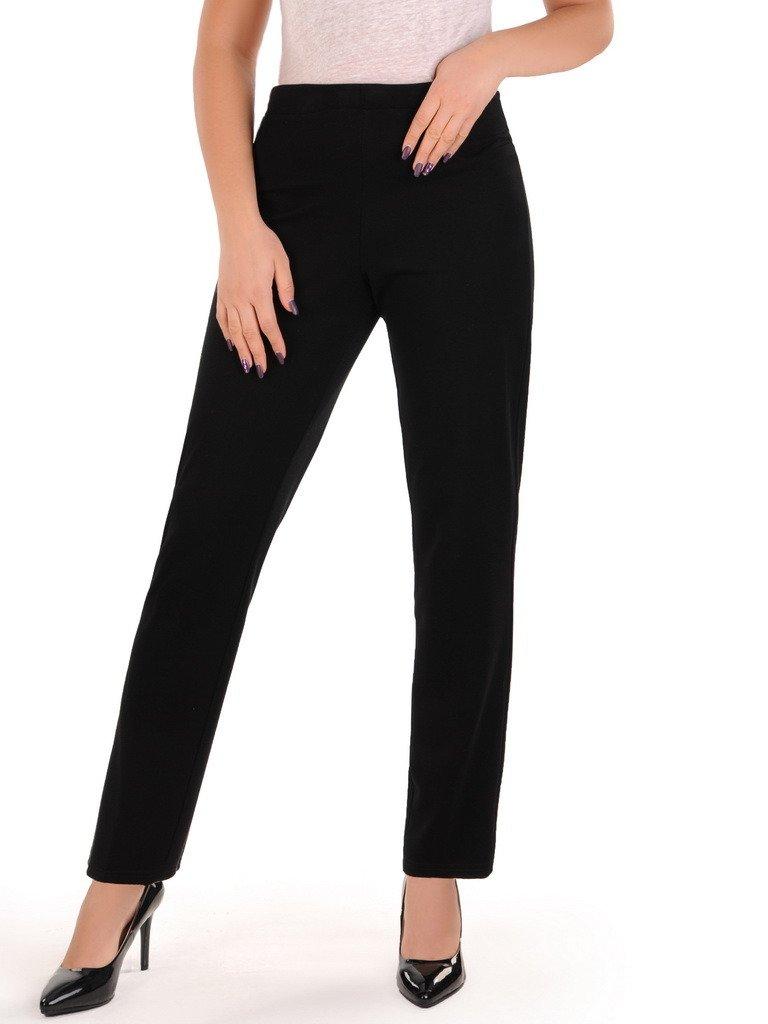 cef024e6 Proste spodnie z czarnej dzianiny 14365.