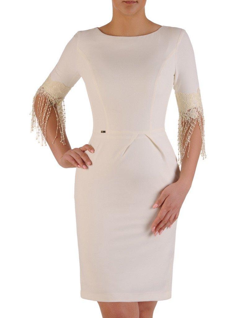bfd4d0553b ... elegancka sukienka z ozdobnymi rękawami 20029. Kliknij