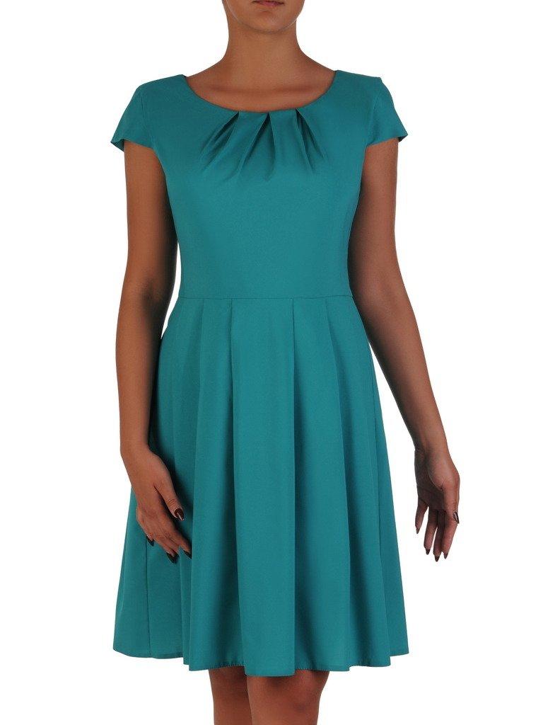 0acf3ee836 Rozkloszowana sukienka Izaura XII kreacja w kolorze szmaragdowym ...