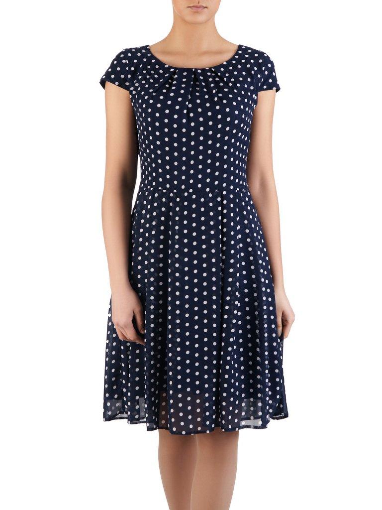 f6d510642d Rozkloszowana sukienka szyfonowa Karla II