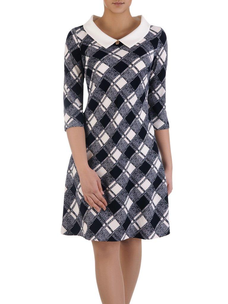 602b1d641b Rozkloszowana sukienka w kratkę 14830