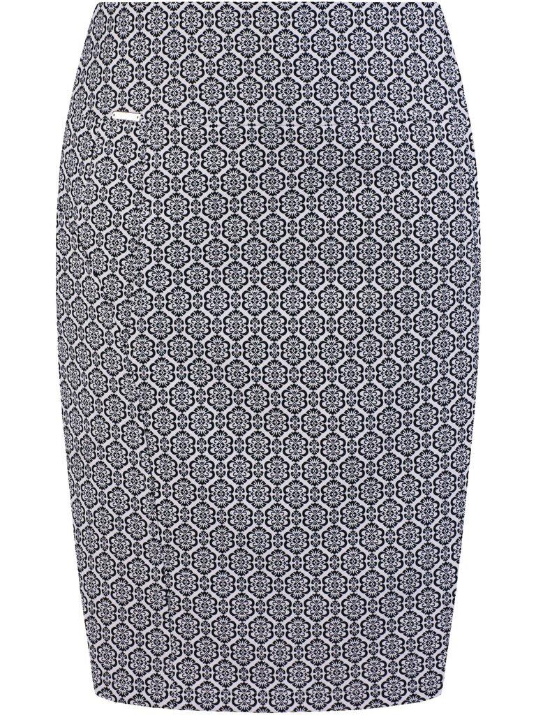 Spódnica ołówkowa z wzorzystej tkaniny Ginewra II