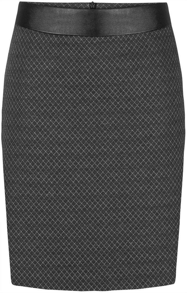 e220f9fa Spódnica ze skórzaną wstawką Teodora I.