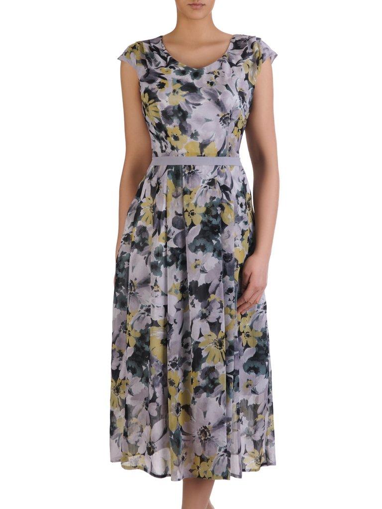 e0a04dcbe81a67 Sukienka damska 15273, zwiewna kreacja w kwiaty. | Sklep online ...