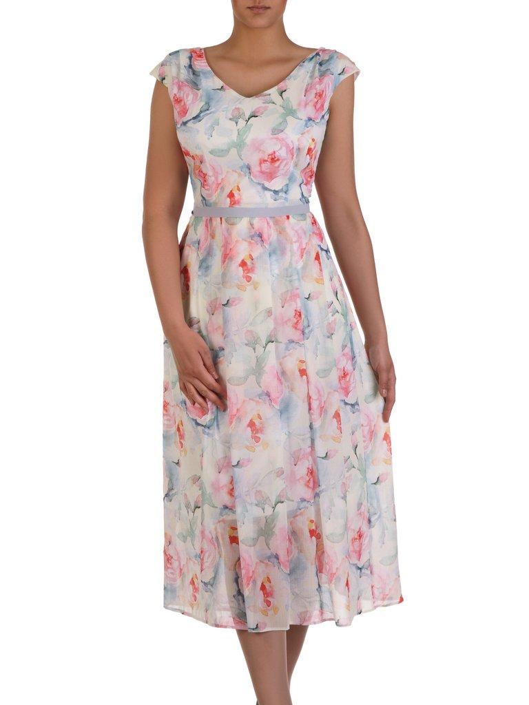 b66d48a24abaf8 Sukienka damska 16273, zwiewna kreacja w kwiaty. | Sklep online ...