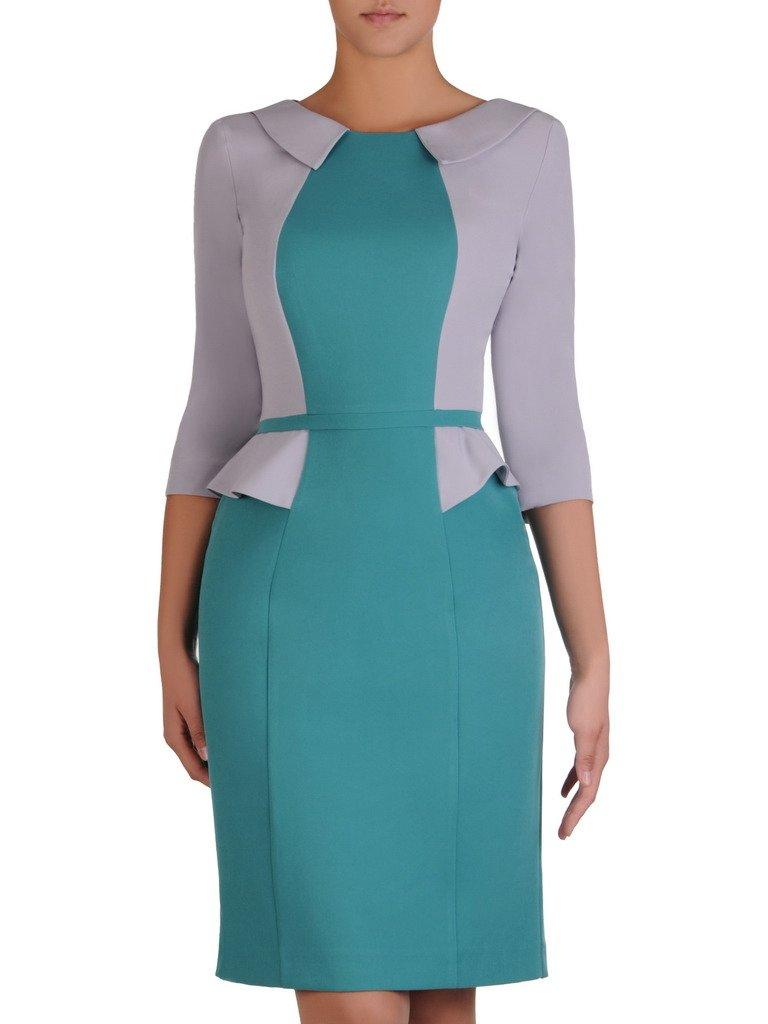 4cb083b6e79465 Sukienka damska Jolanta III, efektowna kreacja z modną baskinką ...