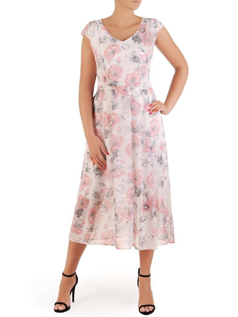 7a7773b21d6aed Sukienka letnia, zwiewna kreacja w kwiaty 21338. | Sklep online ...