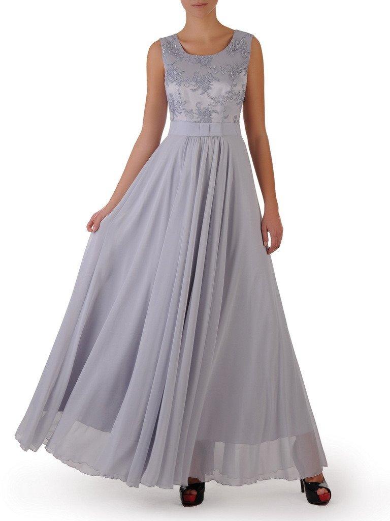 1f751eb40e4b0 Sukienka na wesele Galina II, długa kreacja z koronki i szyfonu ...