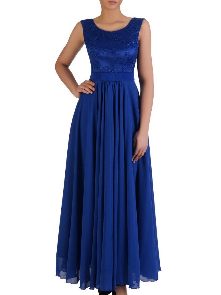 83b0dcfb Sukienka na wesele Galina VI, długa kreacja z koronki i szyfonu.