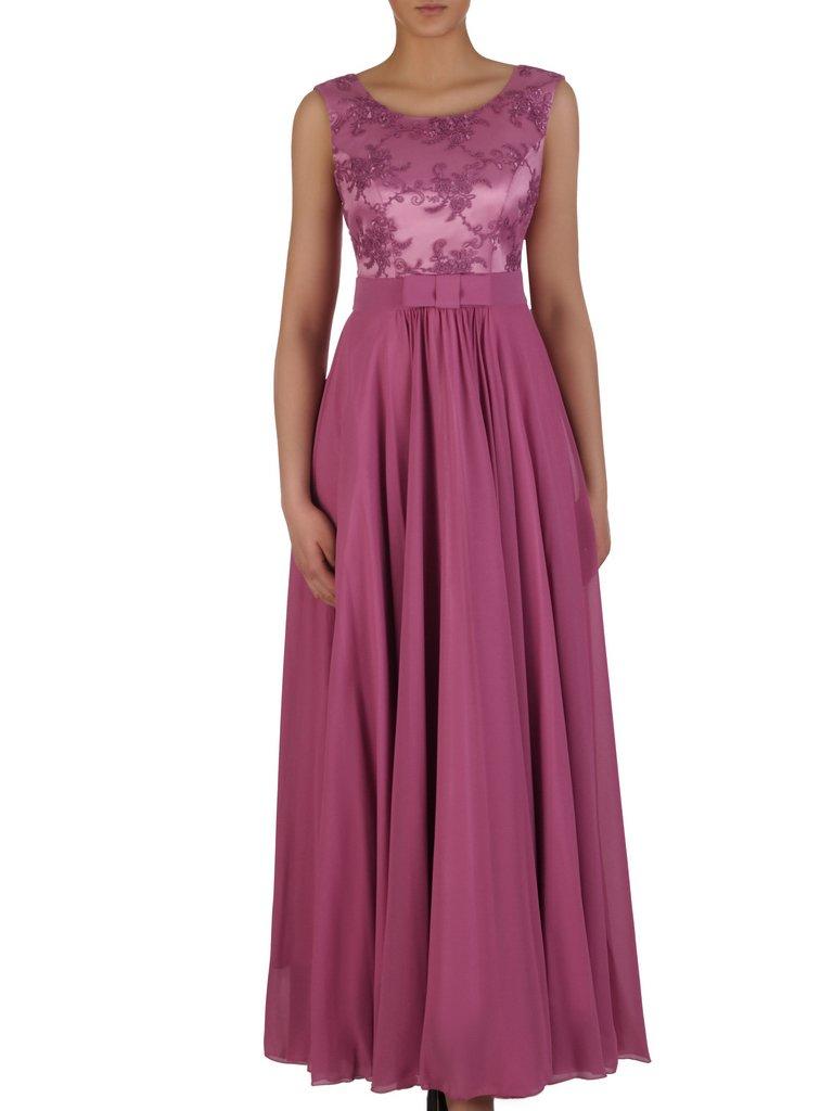 a46f4cf910 Sukienka Na Wesele Galina Xiii Długa Kreacja Z Koronki I Szyfonu