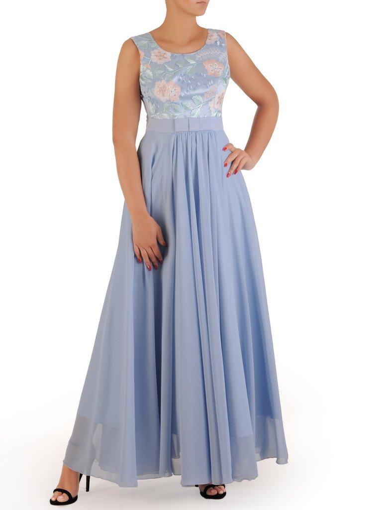6d42e236e Sukienka na wesele Galina XXI, długa kreacja z koronki i szyfonu ...
