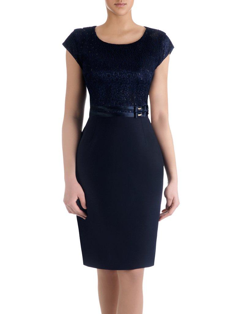 c914549ded04bd Sukienka na wesele Resina XIV, elegancka kreacja z tkaniny i koronki.  Kliknij, aby powiększyć ...