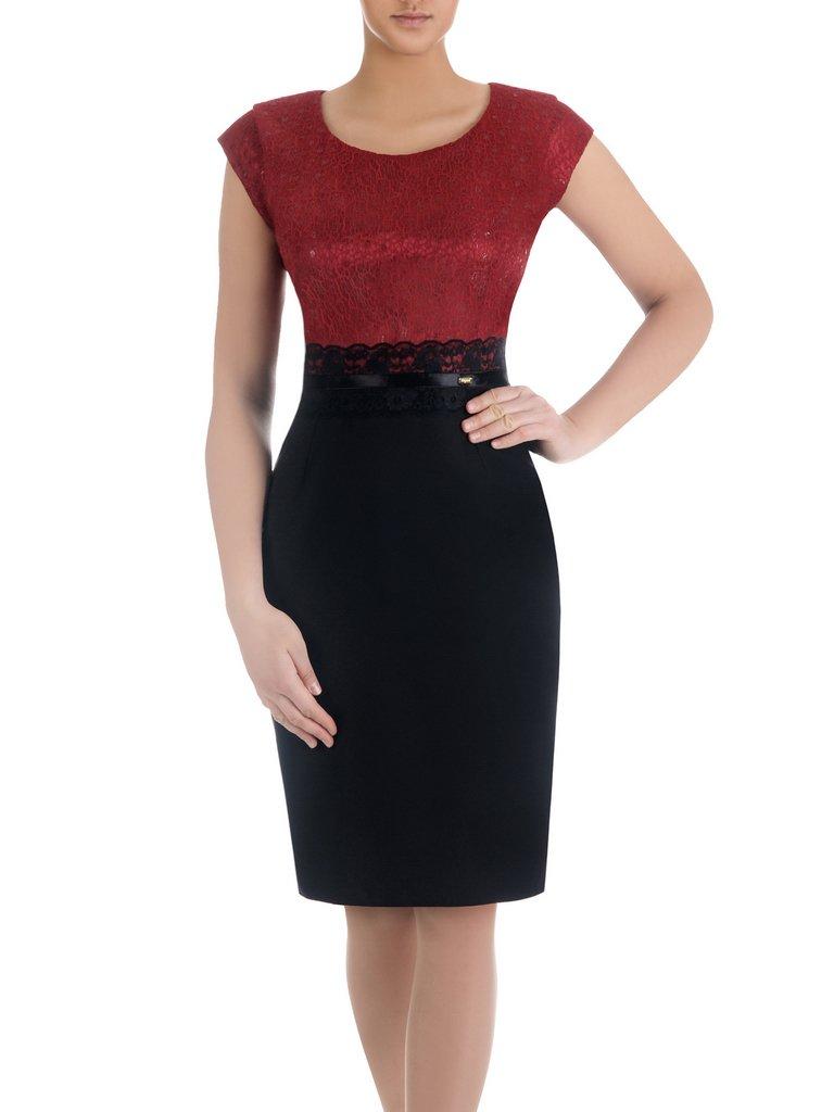 9f7f68385f30dc Sukienka na wesele Resina XV, elegancka kreacja z tkaniny i koronki.  Kliknij, aby powiększyć ...