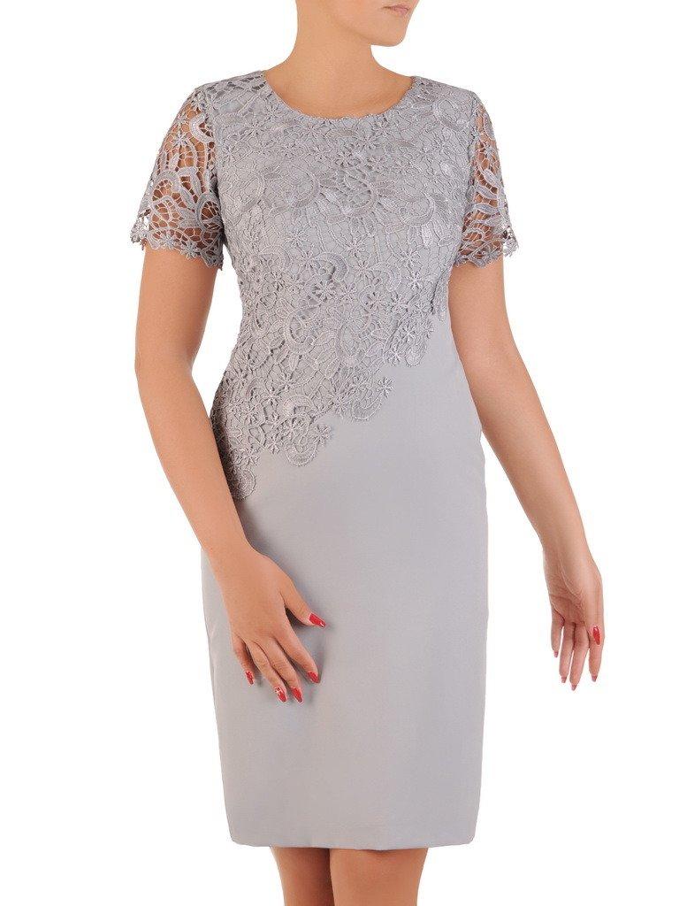 e1a99798e3361e Sukienka na wesele Wirginia XII, elegancka kreacja z koronki i tkaniny.  Kliknij, aby powiększyć ...
