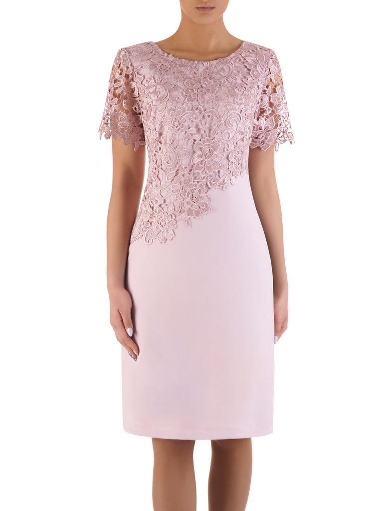 6a8adcb4 Sukienka na wesele Wirginia XIX, elegancka kreacja z gipiury i tkaniny.