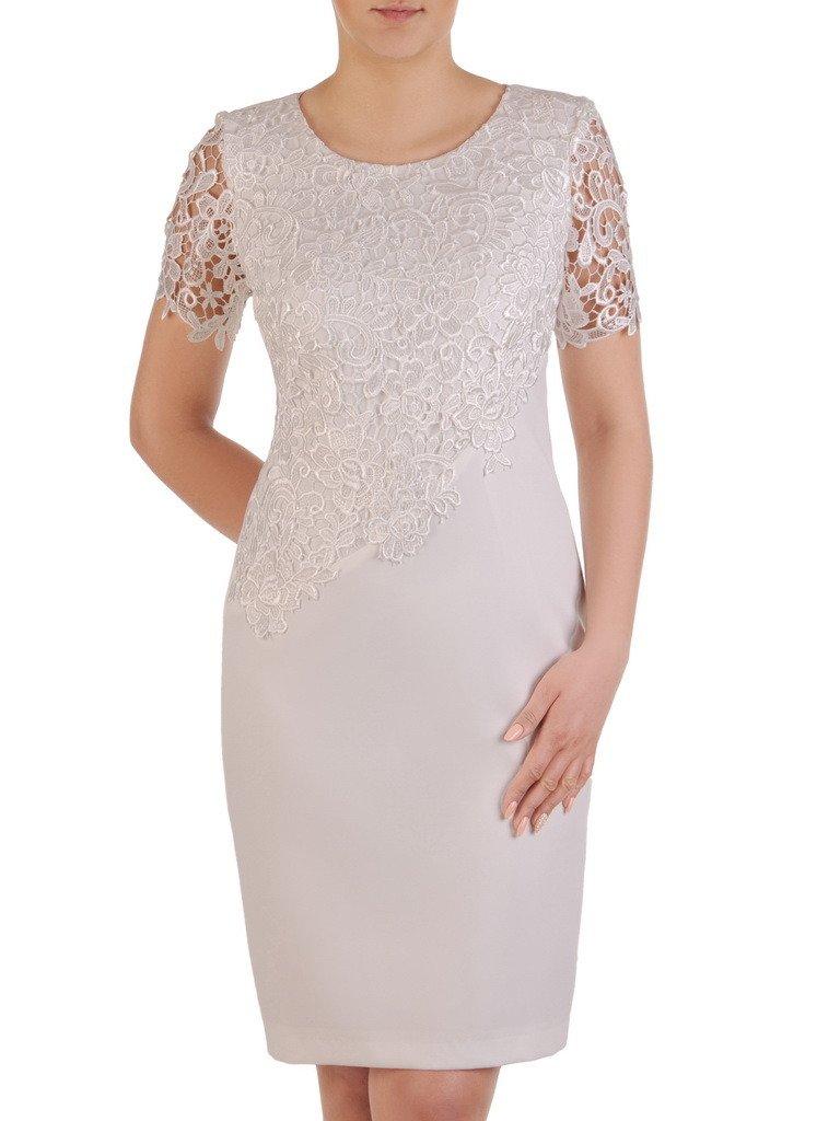 f210c4107ed1d9 Sukienka na wesele Wirginia XXIV, elegancka kreacja z gipiury i ...