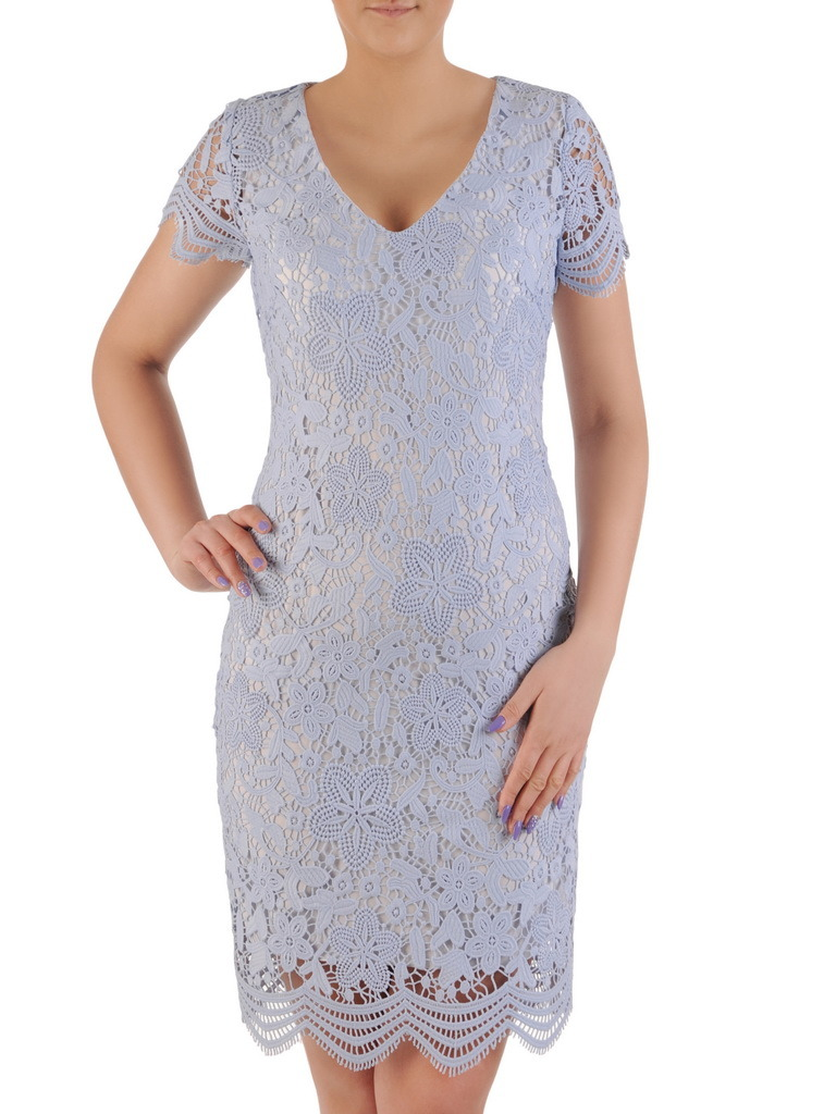 13653411 Sukienka na wesele, elegancka kreacja z gipiury 20145.