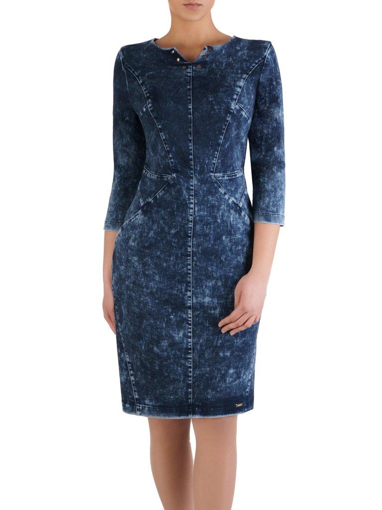 776c500b Sukienka ozdobiona nitami Monetta, dżinsowa kreacja na jesień.