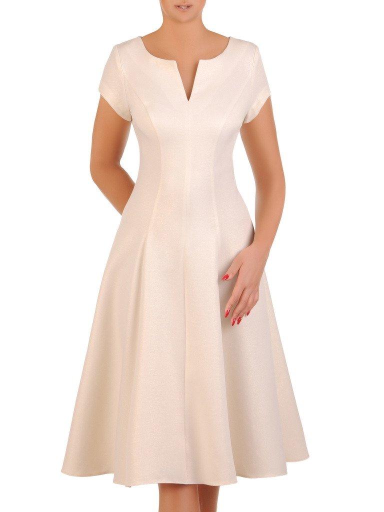 019ea38f Sukienka rozkloszowana, elegancka kreacja na wesele 21270.
