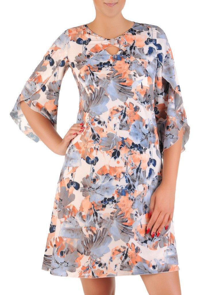 664051330fd0ea Sukienka w kwiaty, zwiewna kreacja w luźnym fasonie 21282. | Sklep ...