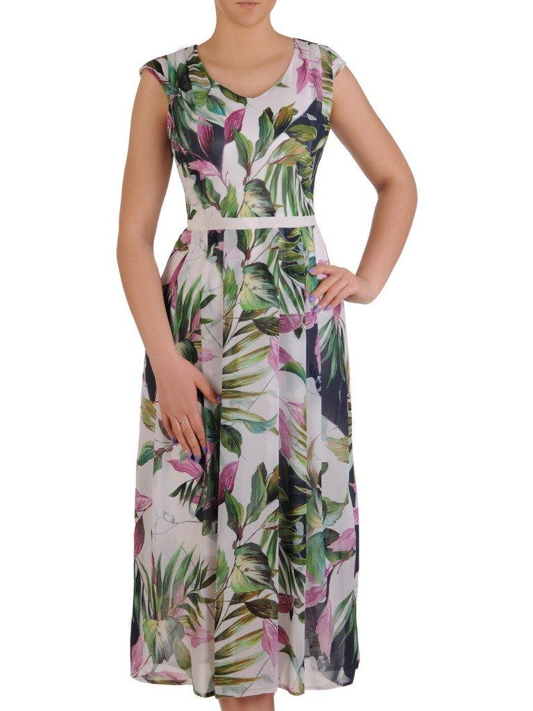 c175e6052be4b2 Sukienka w kwiaty, zwiewna kreacja z szyfonu 20463. | Sklep online ...