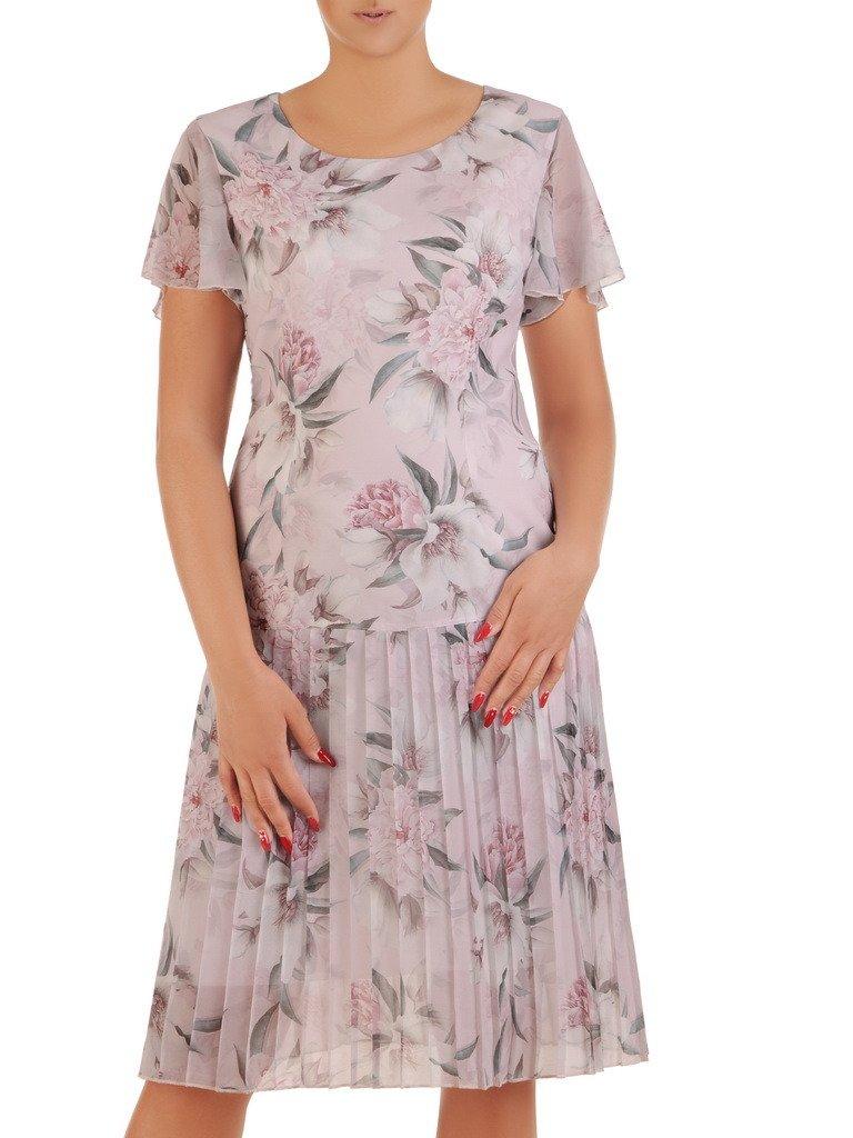 7e125bf7c7ba0e Sukienka wizytowa, zwiewna kreacja w kwiaty 21387.   Sklep online ...