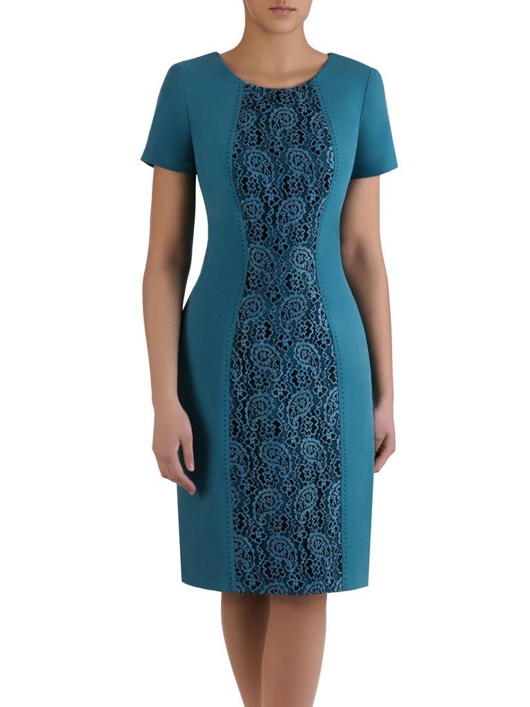 418d9b2863f0c8 Kliknij, aby powiększyć; Sukienka wyszczuplająca Klementyna II, wizytowa ...