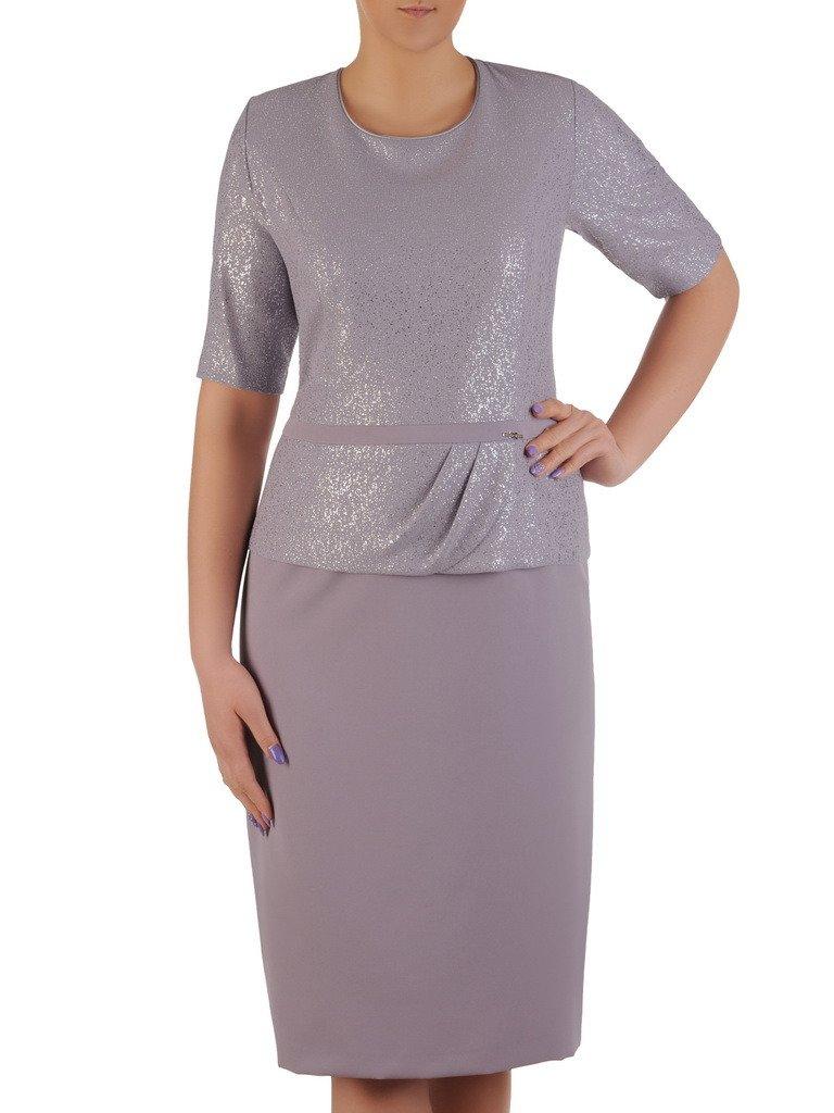 fcd5878b4a Elegancka sukienka z marszczoną baskinką