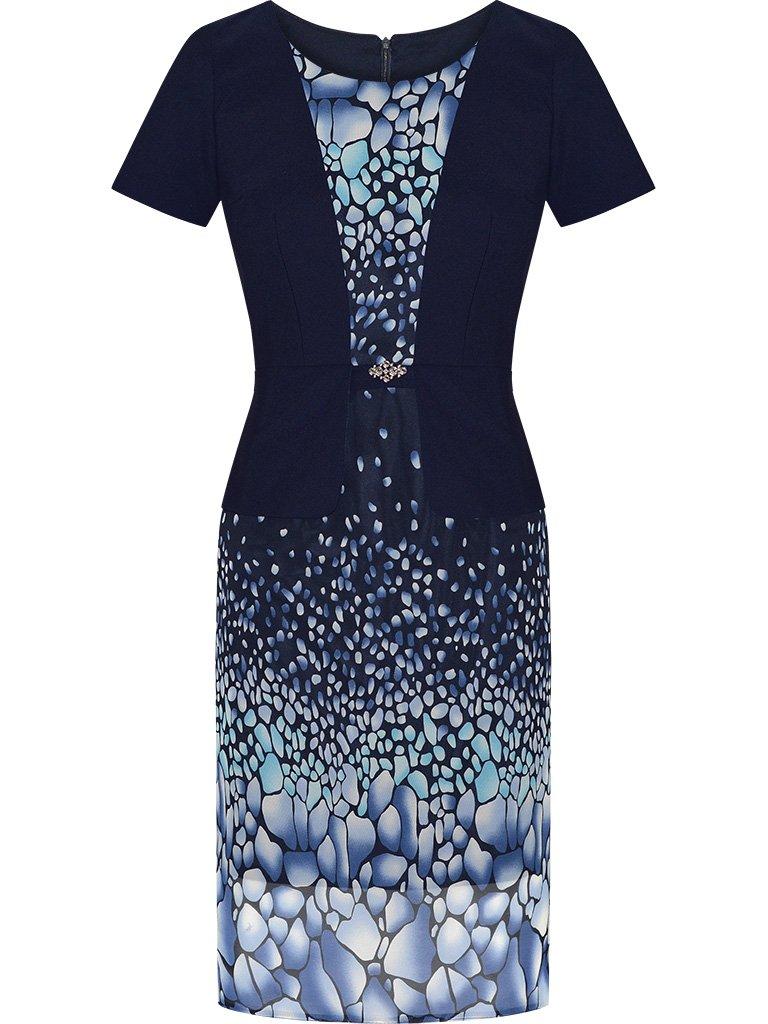 b1bab39c8a Sukienka z imitacją żakietu Mirella