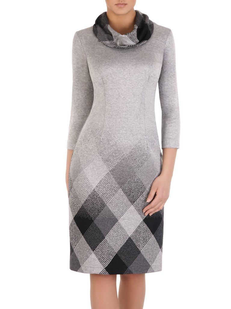 c04a8459d801ba Sukienka z kominem Krystyna III, jesienna kreacja z bawełny.   Sklep ...