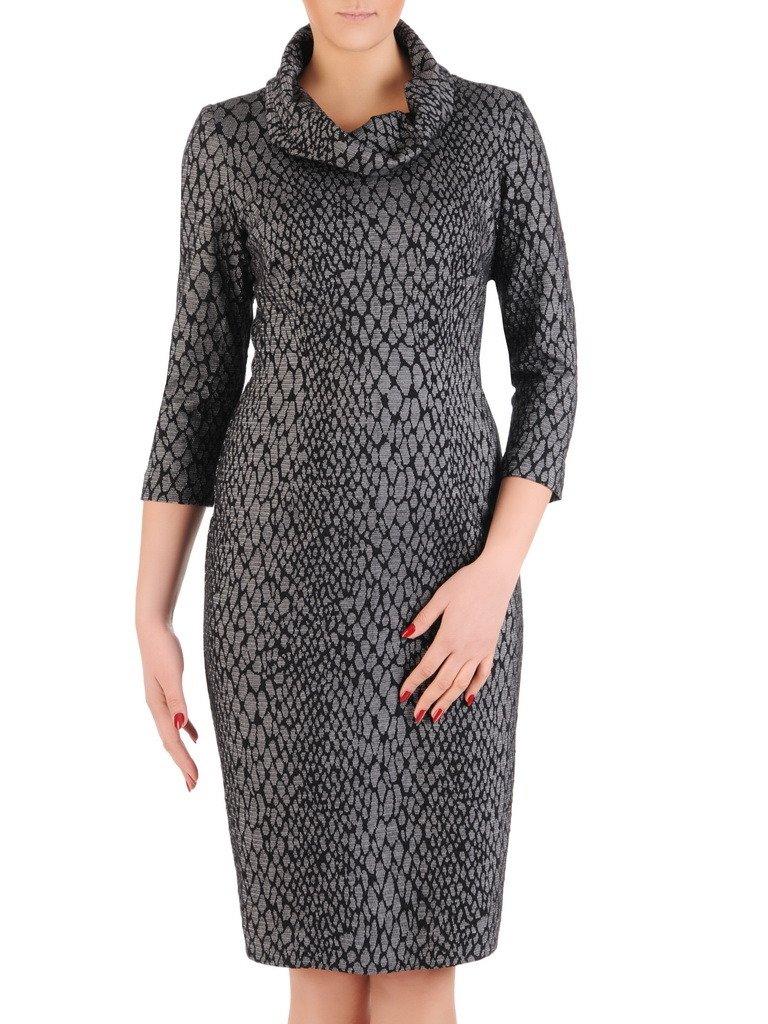 b4ce8288cb6cb4 Sukienka z kominem Krystyna VI, jesienna kreacja z bawełny.   Sklep ...