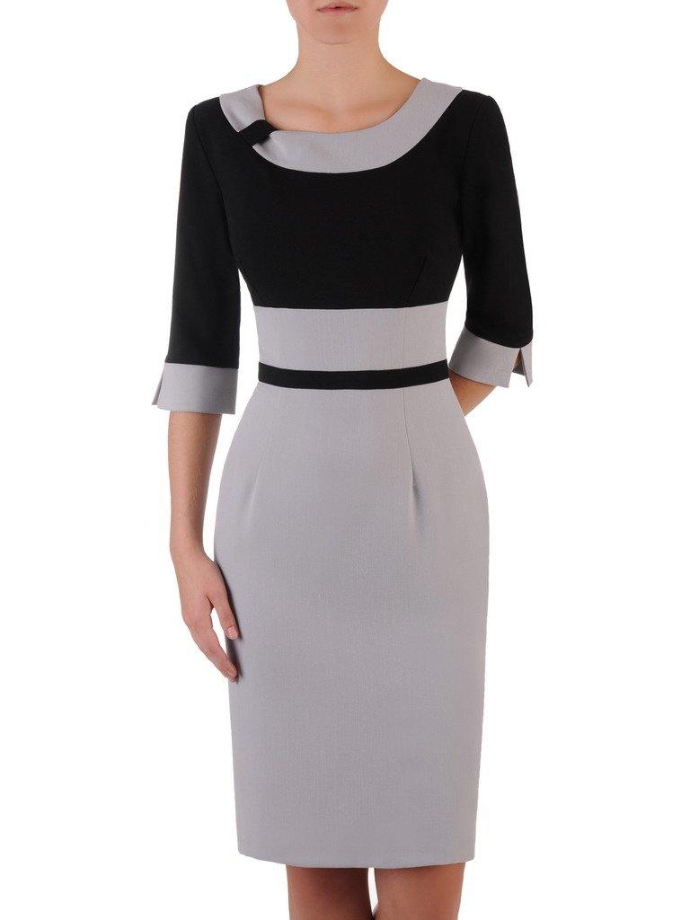 62a7685c1b Sukienka z kontrastowymi wstawkami Rosa V