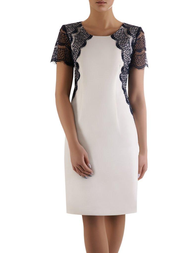 4c1d322a1c Sukienka z koronkową aplikacją Doria