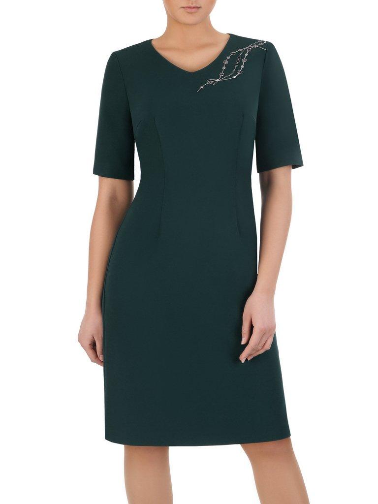 Niesamowite Sukienka z koronkową aplikacją przy dekolcie Helenita I. | Sklep MW15